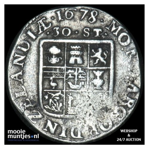 Zeeland - Daalder van 30 stuiver - 1678 (kant A)