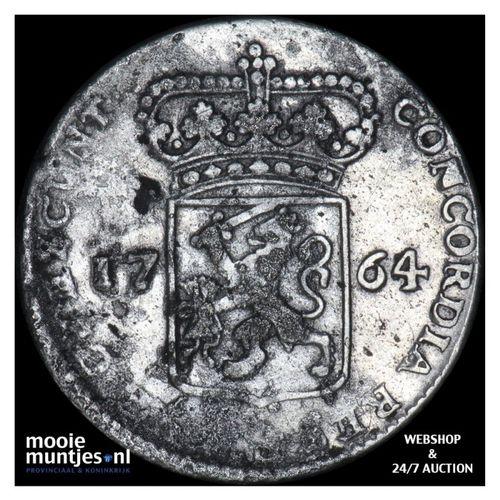 Zeeland - Halve zilveren dukaat - 1764 (kant A)