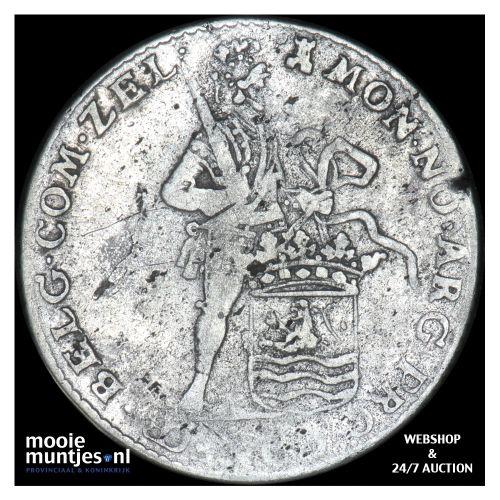 Zeeland - Halve zilveren dukaat - 1764 (kant B)