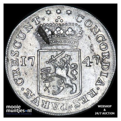 Zeeland - Zilveren dukaat - 1747 (kant A)