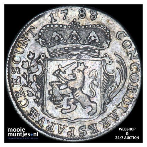 Zeeland - Kwart dukaat  - 1788 over 87 (kant A)