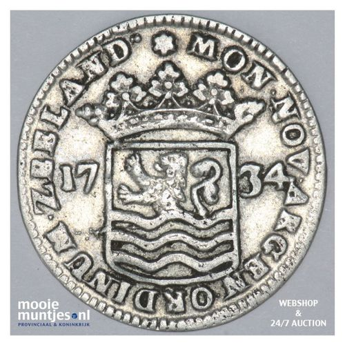Zeeland - Hoedjesschelling - 1734 (kant A)