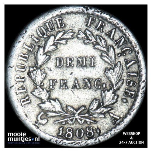 1/2 franc - France 1808 A (Paris) (KM 680.1) (kant A)