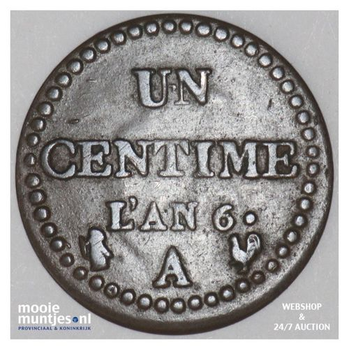 centime - France LAN 6 A (Paris) (KM 646) (kant A)