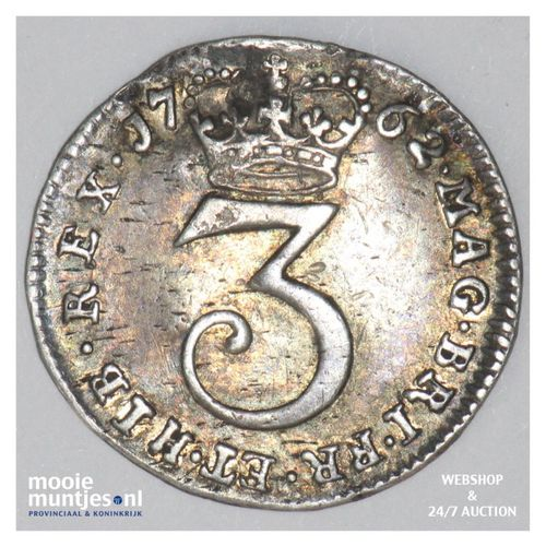 3 pence - Great Britain 1762 (KM 591) (kant A)