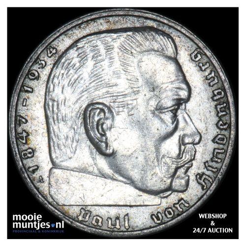 2 reichsmark - Germany-Third Reich 1939 A (KM 93) (kant B)