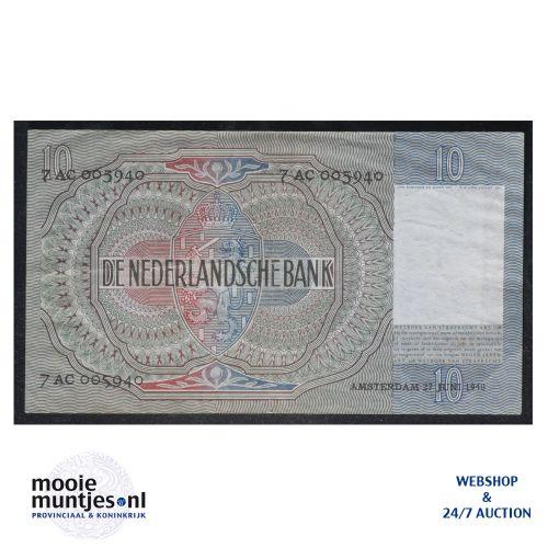 10 gulden  - 1940 (Mev. I 41-1 / AV 30) (kant B)
