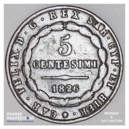 5 centesimi - Italian States/Emilia 1826 (KM 3) (kant A)