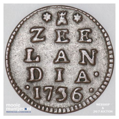 Zeeland - Duit - 1739 (kant A)