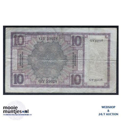 10 gulden  - 1924 (Mev. 39-1b / AV 28) (kant B)