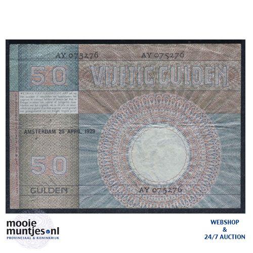 50 gulden - 1929 (Mev. 96-1b / AV 64) (kant B)
