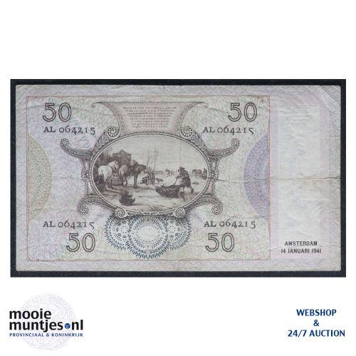 50 gulden - 1941 (Mev. 97-1 / AV 65) (kant B)