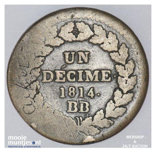 decime - France 1814. DECIME. (KM 700) (kant A)