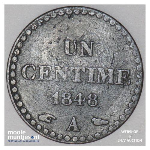 centime - France 1848 A (Paris) (KM 754) (kant A)
