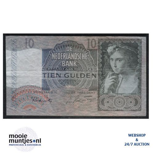 10 gulden  - 1940 (Mev. II 42-2 / AV 31) (kant A)