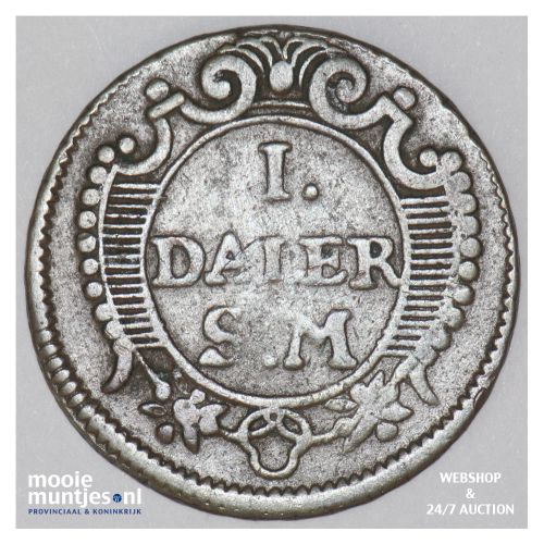 daler - emergency coinage - Sweden 1718 (KM 361) (kant B)