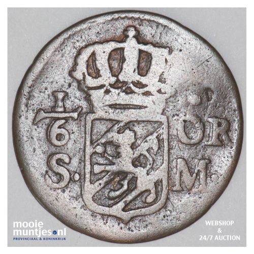 1/6 ore (S.M.) - Sweden 1718 (KM 334) (kant B)