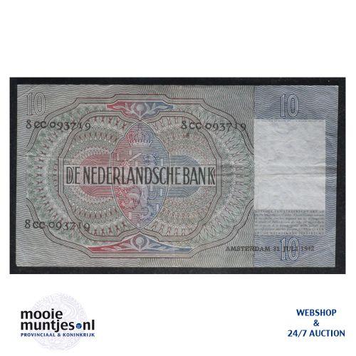 10 gulden  - 1940 (Mev. II 42-2 / AV 31) (kant B)