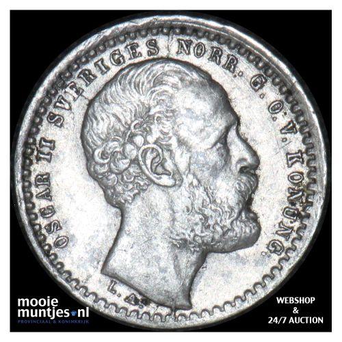 10 ore - Sweden 1872 (KM 727) (kant B)