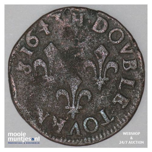 double tournois - France 1643 H (La Rochelle) (KM 127.6) (kant A)