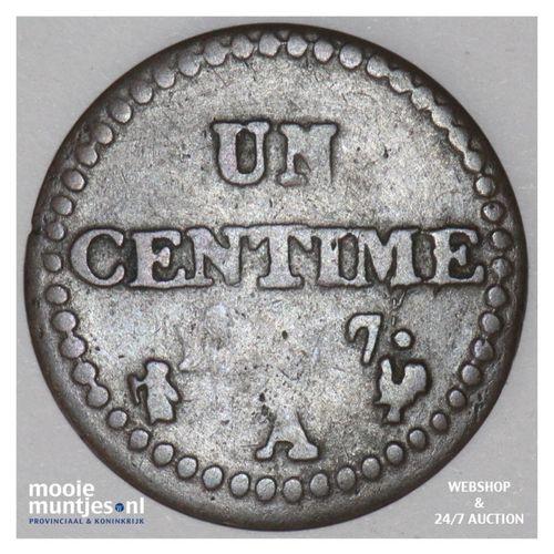centime - France LAN 7 A (Paris) (KM 646) (kant A)