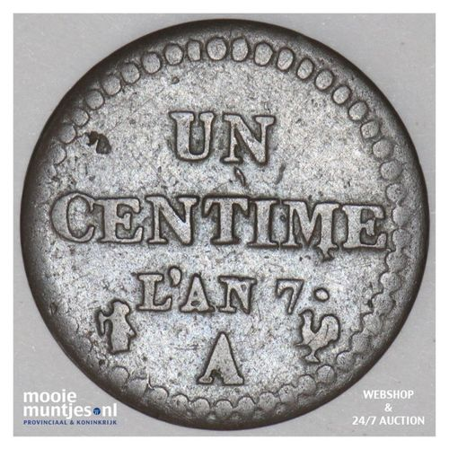 centime - France LAN 7 A (Paris) (KM 646) (kant A)