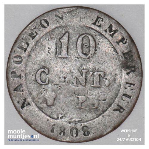 10 centimes - France 1808 BB (Strasbourg) (KM 676.3) (kant A)