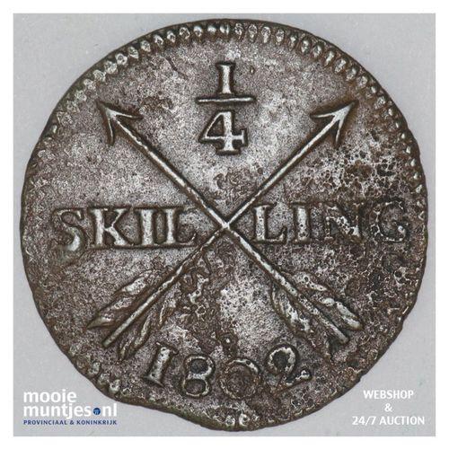 1/4 skilling - Sweden 1802 (KM 564) (kant A)