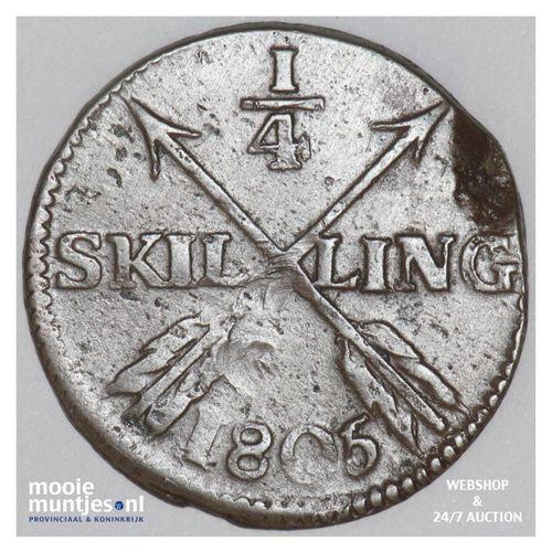 1/4 skilling - Sweden 1805 (KM 564) (kant A)