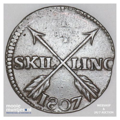 1/4 skilling - Sweden 1807 (KM 564) (kant A)