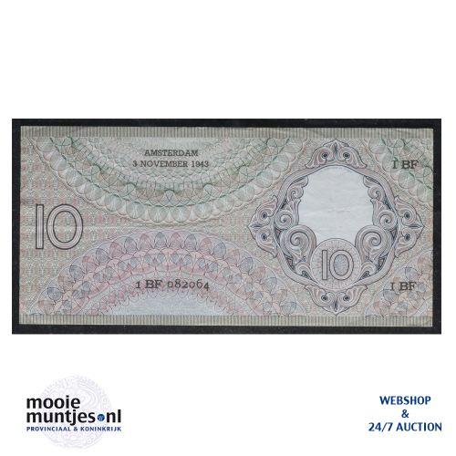 10 gulden  - 1943 (Mev. I 43-1 / AV 32) (kant B)