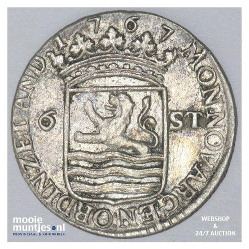 Zeeland - Scheepjesschelling - 1767 met ARGEN (kant A)