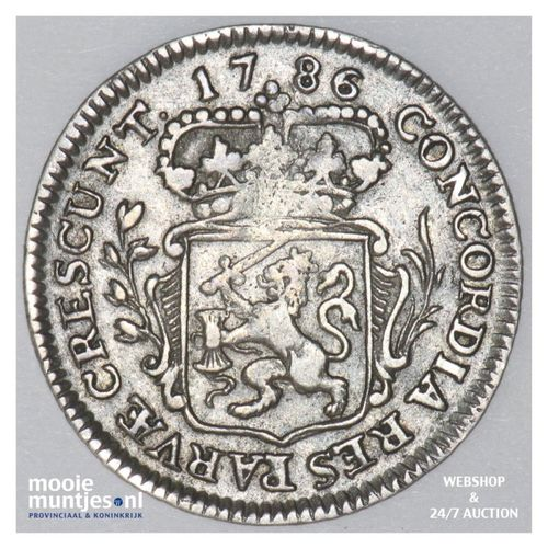 Zeeland - Achtste dukaat of Pietje - 1786 (kant A)