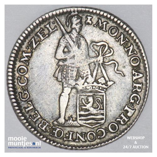 Zeeland - Achtste dukaat of Pietje - 1786 (kant B)