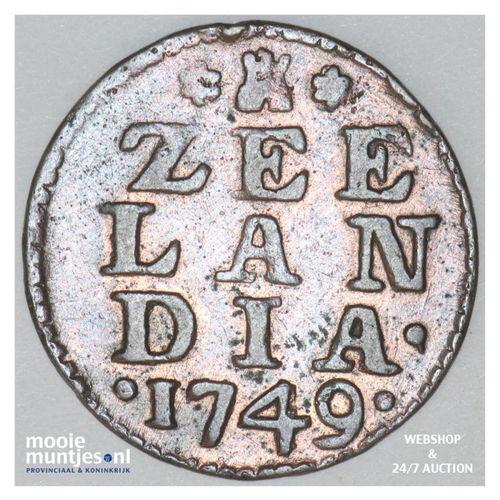 Zeeland - Duit - 1749 (kant A)