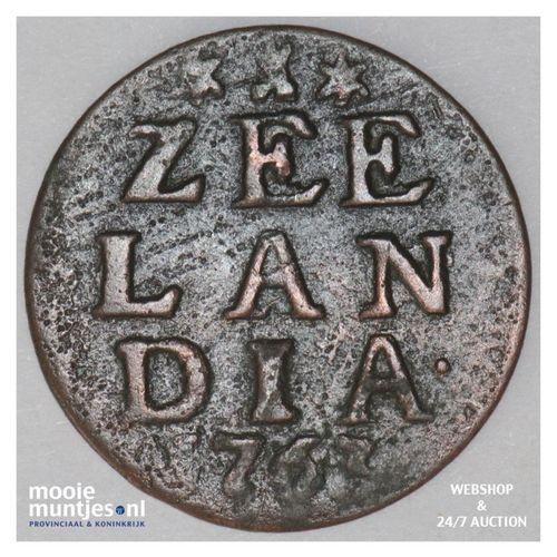 Zeeland - Duit - 1763 (kant A)