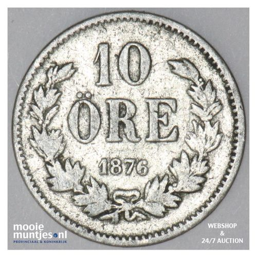 10 ore - Sweden 1876 (KM 737) (kant A)