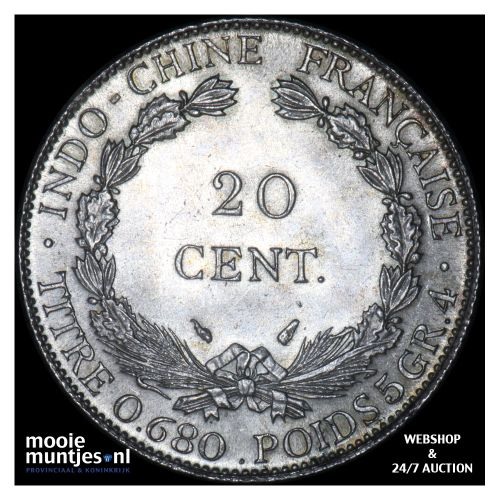 20 cents - French Indo-China 1937 (KM 17.2) (kant B)