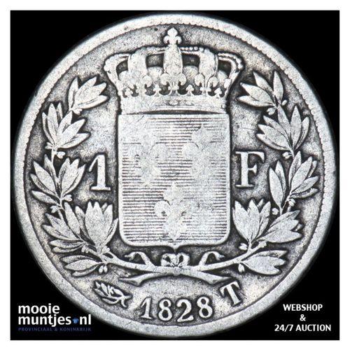 franc - France 1828 T (Nantes) (KM 724.12) (kant A)