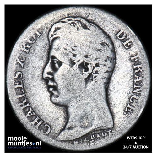 franc - France 1828 T (Nantes) (KM 724.12) (kant B)
