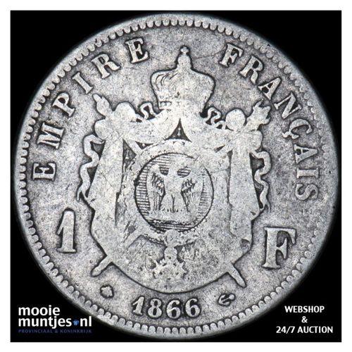 franc - France 1866 A (Paris) (KM 724.12) (kant A)