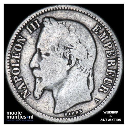 franc - France 1866 A (Paris) (KM 724.12) (kant B)