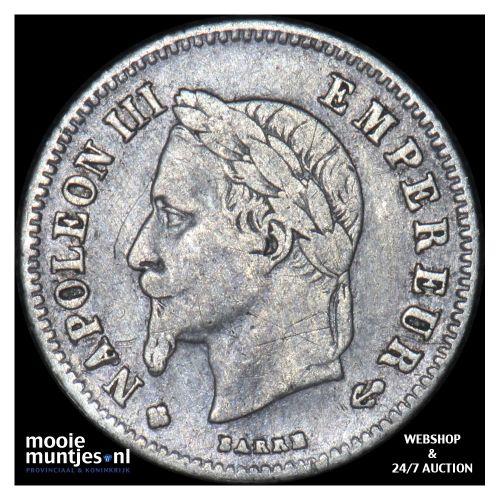 20 centimes - France 1866 BB (Strasbourg) (KM 805.2) (kant B)