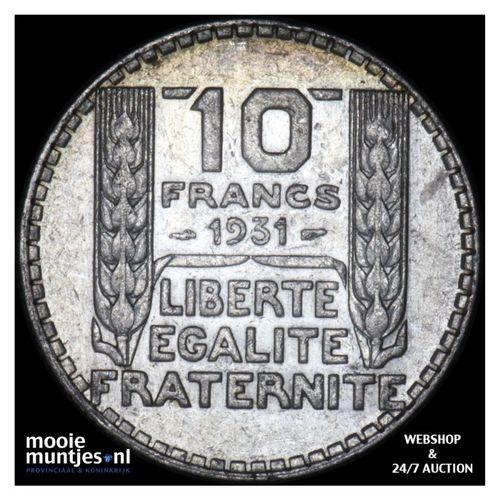 10 francs - France 1931 (KM 878) (kant A)