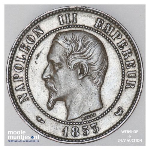 10 centimes (medallic coinage) - France 1853 (KM M24) (kant A)