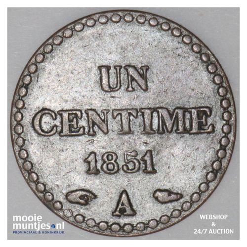 centime - France 1851 (KM 754) (kant A)