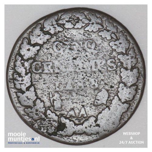 5 centimes - France LAN 8 AA (Metz) (KM 640.2) (kant A)