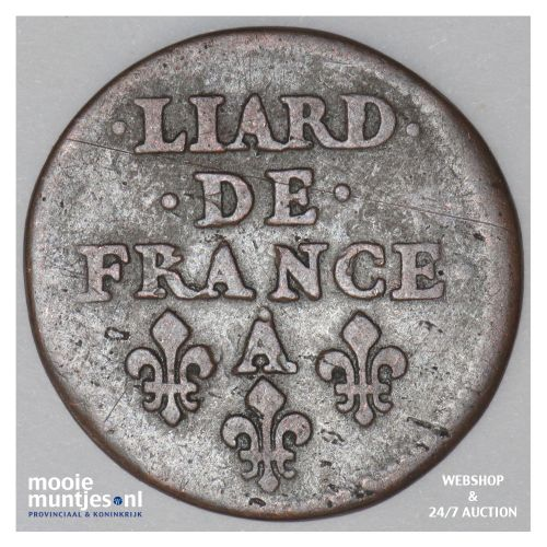 liard - France 1655 A (Paris) (KM 192.1) (kant B)