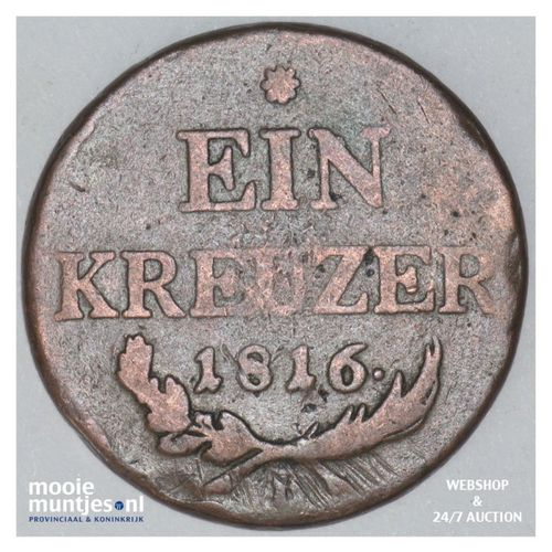 kreuzer - Austria 1816 B (KM 2113) (kant A)