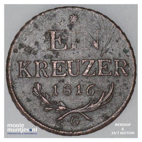 kreuzer - Austria 1816 G (KM 2113) (kant A)